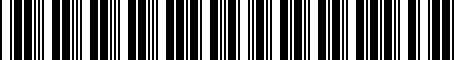 Barcode for 000051444L