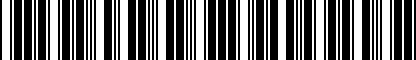 Barcode for 8K0071685
