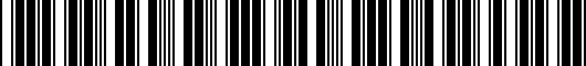 Barcode for 8K50716459AX