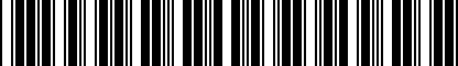 Barcode for 8X0061190