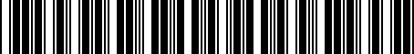 Barcode for 8X0061680A